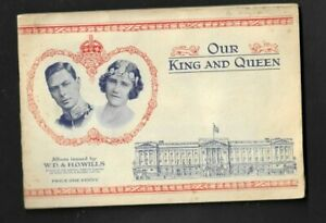 CIGARETTE CARDS WILLS 1937  OUR KING AND QUEEN IN  OFFICIAL ALBUM