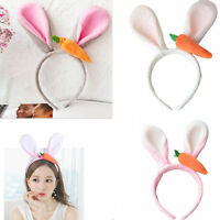 kids Girls Lovely Rabbit Easter Bunny Ears Head band Birthday Cosplay Party Gift