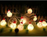 Christmas LED Decoration Snowman String Starry Lights Tree Windows Decor Bulbs