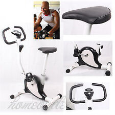 Gym Exercise Compact Bike Trainer Fitness & Cardio Workout Machine in Black