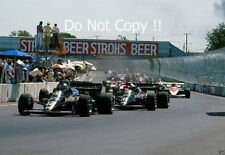 Nigel Mansell & Elio De Angelis Lotus 95T Dallas Grand Prix 1984 Photograph 1