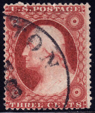 #26A - 3 Cents 1857, 52L10i or 10L, Double Transfer, N-3, Rose Brown, blk. CDS