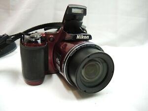 NIKON COOLPIX L820 Digital Camera 16.0 MP CMOS Wide 30x Zoom NIKKOR Full HD