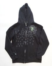 Monster Energy Drink Mens Small Hoodie Sweatshirt Full Zip Hooded Black