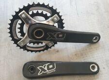 SRAM XO 175mm 39/26 chainset carbon and chrome. GXP 2X10 X.O