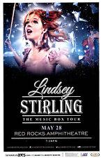 "LINDSEY STIRLING ""MUSIC BOX TOUR"" 2014 DENVER CONCERT POSTER - Electronic Music"