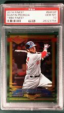 2014 TOPPS FINEST 1994 DUSTIN PEDROIA CARD #94FDP PSA 10 BOSTON RED SOX