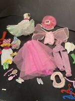 Barbie Clothes and Accessories Lot Outfits Dress Hangers Clothing B4 Lot 2