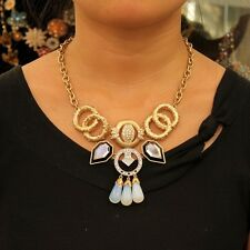 Collar Art Deco Cristal Gota Crema Moderno Retro Original Noche LL 1