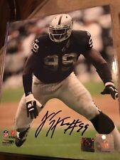 LaMarr Houston Signed Oakland Raiders 8x10 Photo AMSM