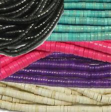 Magnasite Chalk Turquoise Heishi Beads 4mm 6mm Waves Genstone 15 Inch  U-Pick
