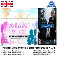 Miami Vice Movie Season 1 - 5 Complete 111 Episodes Collection 1 2 3 4 5 NEW DVD