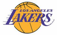 """2 PACK Los Angeles Lakers Die Cut Logo Vinyl Decal NBA sticker 3.16"""" x 2.25"""""""