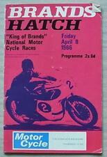 Brands Hatch 8 APR 1966 RE di marche MOTO riunione PROGRAMMA UFFICIALE