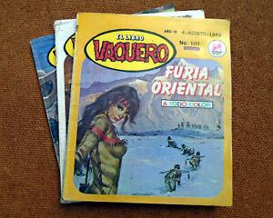 cowboys wild wild west western El Libro Vaquero Mexican Comic Spanish Lot of 3