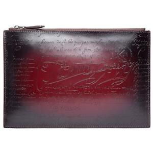 TERSE Second bag leather lightweight Clutch back wine-red Japan  New