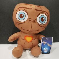 """Toy Factory E.T. Plush ~9"""" Brown With Heart On Chest Stuffed Toy Plush NWT"""