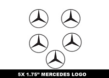 Mercedes Benz 5X Logo badge window hub caps Decal Stickers AMG Class E C Benzo
