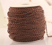 5/100m Various Colors Cable Open Link Metal Chain Jewelry Findings For Craft