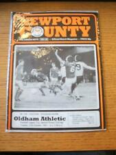 27/10/1981 Newport County v Oldham Athletic [Football League Cup] . No obvious f