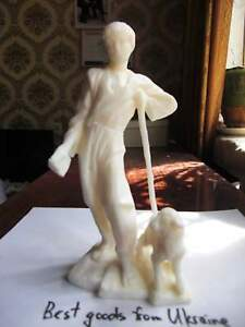 SERGEY ESENIN with LAMB Russian USSR soviet figurine