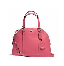 NWT COACH PEYTON LEATHER CORA DOMED SATCHEL Strawberry Rose Pink 25671