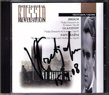 Viktor TRETYAKOV Signed BRUCH GLAZUNOV Alexander Lazarev USSR CD Violin Concerto