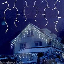 Eiszapfen Lichterkette 8m Warmweiß mit 8 Schneefalleffekten und 160 LED
