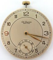 .VINTAGE JULES JURGENSEN 17J 2 ADJUSTS ULTRA SLIM MENS POCKET MOVEMENT & DIAL.
