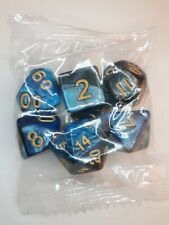 🌟 7-Die Dice Set For Dungeons And Dragons (Blue Tones Swirl) (a11)