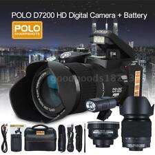 POLO D7200 33MP Digital DSLR Camera Camcorder Flash&Wide Angel & Telephoto Lens
