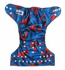 Modern Cloth Reusable Washable Baby Nappy Diaper & Insert, Spider Man