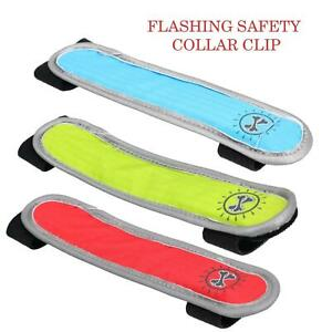 Flashing Safety Collar Clip 3 Light Settings For Dog Walking On Dark Nights 15cm