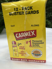 SEALED PACKAGE OF12 Carmex Tube Lip Balm for Cold Sores and Chapped Lips .35 Oz