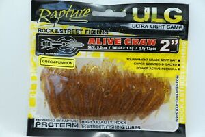 Rapture Soft lures - Alive Craw - Lrf, Ultralight, Dropshot, Jig great lures!