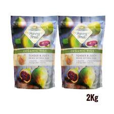 Sunny Fruit 1kg Organic Dried Smyrna Figs Gluten & Nut No Added Sugar 1