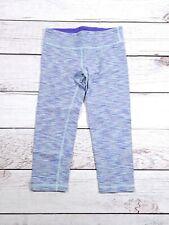 Girls' Ivivva Heathered Blue Capri Leggings Yoga Capris Size 10 D6