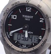 NEW MENS 100M TITANIUM TISSOT T-TOUCH II COMPASS ALARM CHRONO T047.420.44.057.00
