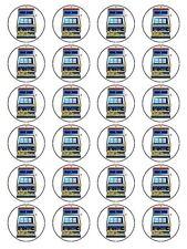 "X24 1.5 ""máquina tragaperras de juego Cupcake Topper Decoración sobre comestibles Papel De Arroz"