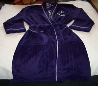 Fremantle Dockers AFL Mens Est Purple Fleece Dressing Gown Robe New