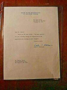 Adlai Stevenson II ALS Signed Letter 1961 US Rep to the UN, Illinois Governor,
