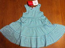 Hanna Andersson Racerback Sleeveless Twirl Dress Aqua Green Stripe Size 80 NWT
