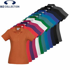 *NEW!* Biz Collection LADIES DURABLE CREW POLO SHIRT ALL SIZES & COLOURS P400LS