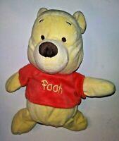 "Disney Winnie The Pooh Rattle Bear 12"" Plush Stuffed Animal"