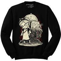 Gothic Alice in Wonderland Sweatshirt mad nightmare steampunk cheshire Jumper