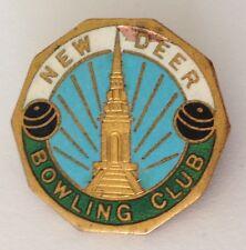 New Deer Bowling Club Badge Pin Rare Vintage (M17)