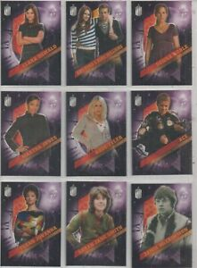 """Dr. Who Timeless Set of 10 Trading Cards """"Companions Across Time"""""""