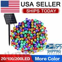 20/100/200 Led Solar String Lights Solar Powered Christmas Fairy String Mt Color