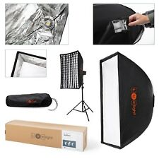 60x90cm Softbox & Honeycomb Grid | Bowens Mount | LuxLight® | Portable Umbrella
