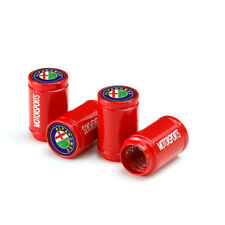 4x Glossy Red Car Tire Valve Dust Stems Air Caps Cover Sports For Alfa Romeo